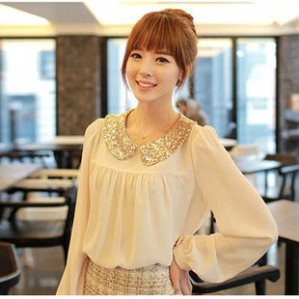 2012-Autumn-Womens-Cute-Sequin-Peter-pan-Collar-Sequined-Shirt-Korean-Preppy-Style-Blouses-N3030